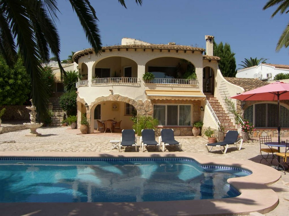Villa With Lovely Sea Views And Separate Apartment In Moraira 3 Bedrooms 3 Bathrooms, Alicante